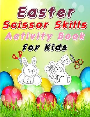 Picture of Easter scissors skill activity book for kids