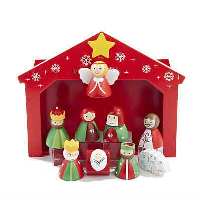 Children's Wooden Miniature Nativity (10 piece set)