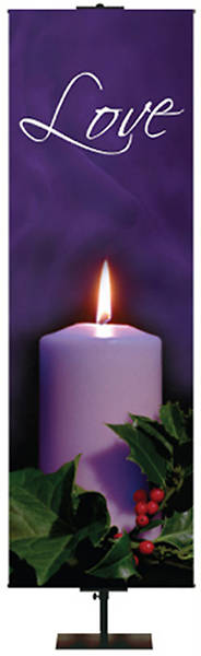 Photo Series Love Purple Advent Banner 2 x 6