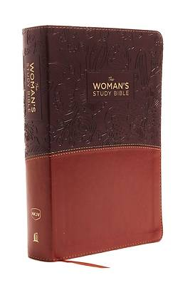 Picture of The NKJV, Woman's Study Bible, Fully Revised, Imitation Leather, Brown/Burgundy, Full-Color