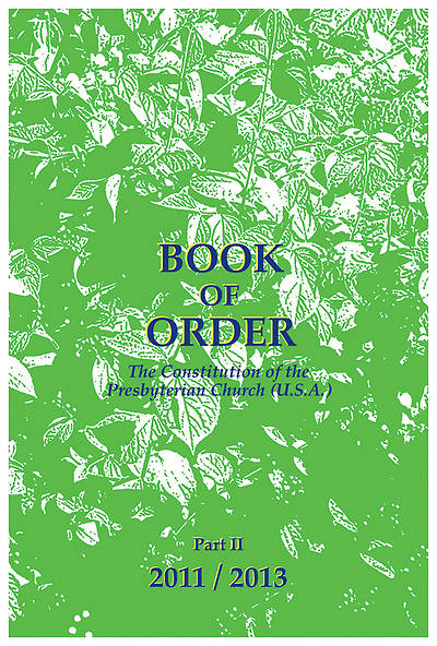 Picture of Presbyterian Book of Order 2011-2013