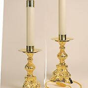 """Picture of Koleys K862 Gold Plated 10 3/4"""" Electric Candlestick"""
