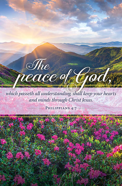 Picture of The Peace of God Philippians 4:7 Regular Size Bulletins