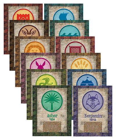Vacation Bible School (VBS) 2018 Babylon Tribe Names Poster Pack - Set of 12
