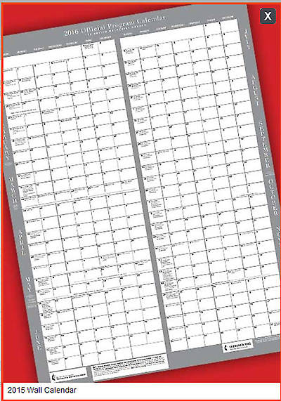 "Official United Methodist Program Calendar 2015 Wall (18"" X 24"")"