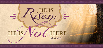 Picture of He Is Not Here Mark 16:6, KJV Easter Offering Envelope