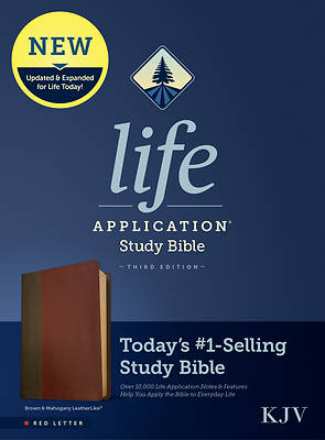 Picture of KJV Life Application Study Bible, Third Edition (Red Letter, Leatherlike, Brown/Mahogany)
