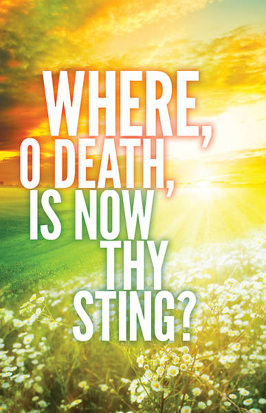 Where, O Death Easter Images Bulletin (Pkg of 50)