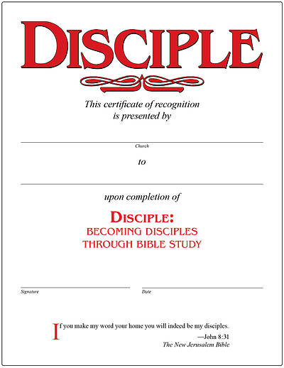Picture of Disciple I Becoming Disciples Through Bible Study Certificate [PDF Download]