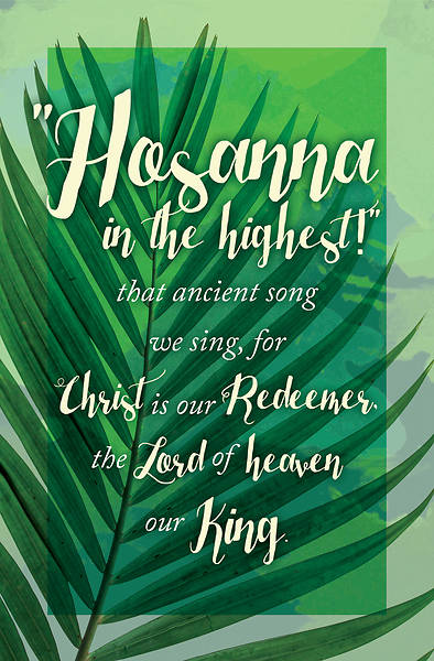 Picture of Hosanna in the Highest! Palm Sunday Bulletin (Pkg of 50)