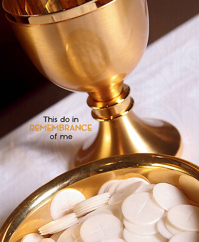 Picture of In Remembrance of Me Communion Legal Size Bulletin