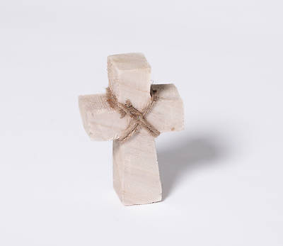 Picture of Paulownia Wood Standing Cross - Small - Natural Finish