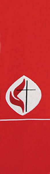 United Methodist Logo Red Stole