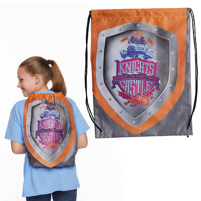 Picture of Vacation Bible School (VBS) 2020 Knights of North Castle Shield Drawstring Backpack (Pkg of 6)