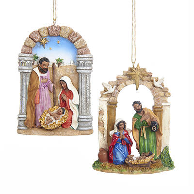 Nativity Ornament- Mary in Blue Robe