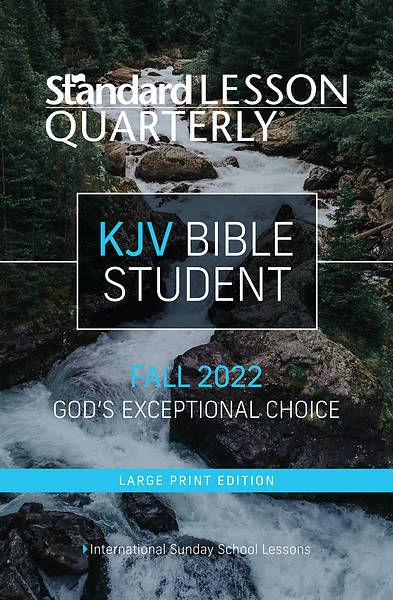 Picture of Standard Lesson Quarterly Adult KJV Bible Student Book Large Print Fall