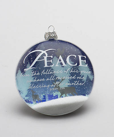 Nature Peace Snow Globe Glass Ornament