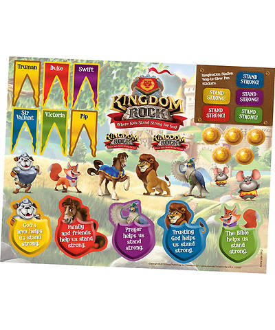 Group VBS 2013 Kingdom Rock Sticker Sheets (pkg. of 10 sheets)
