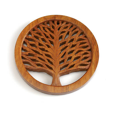 Picture of Tree Of Life Shesham Wood Trivet -India