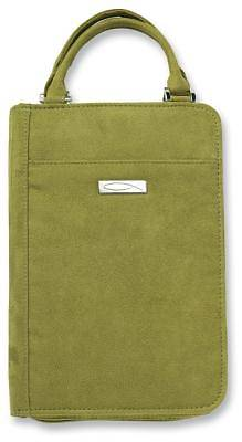Suede Large Green Bible Cover