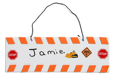 Picture of Vacation Bible School (VBS) 2020 Concrete and Cranes Barricade Door Hanger Craft Pack Pkg 10