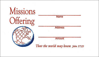 Missions Offering Envelope - Pack of 100