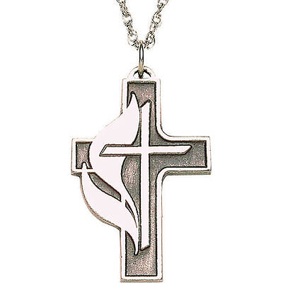 Picture of Pewter Cross and Flame Pendant