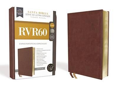 Picture of Rvr60 Santa Biblia Serie 50 Letra Grande, Tamaño Manual, Leathersoft, Café