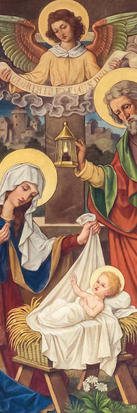Picture of The Nativity Old Master Art Christmas 2' x 6' Banner