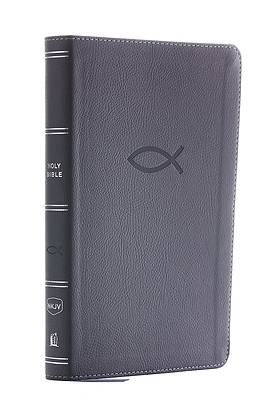 Picture of NKJV Thinline Bible Youth Edition, Leathersoft, Gray, Red Letter Edition, Comfort Print