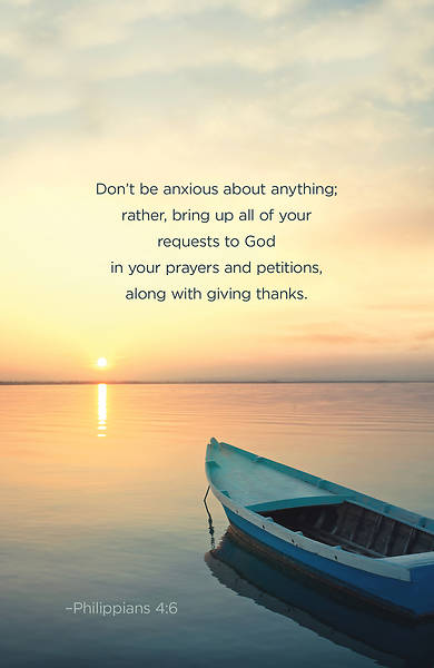 Picture of Don't Be Anxious Scripture Series Bulletin (Pkg of 50)