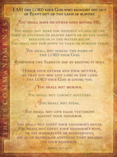 Picture of Chart Wall Ten Commandments