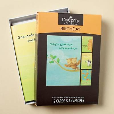 Happy Critters - Birthday Boxed Cards - Box of 12