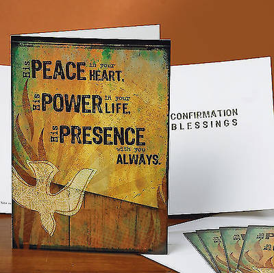 """Peace, Power, Presence"" Confirmation Card (Pkg 6)"