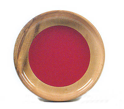 Offering Plate Wood Bowl Style 11 X 2 Deep Red Mat