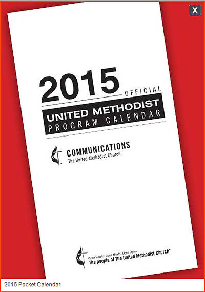 Official United Methodist Program Calendar 2015 Pocket (3 3/4