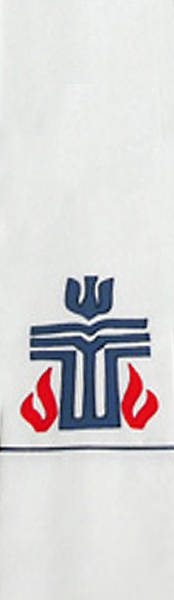 Picture of Presbyterian Logo White Stole