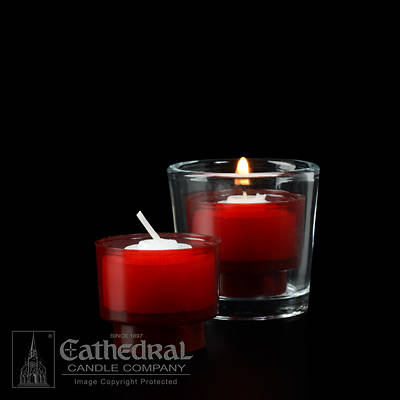 Picture of Cathedral EZ Lites 4 Hour Votive Lights - Ruby