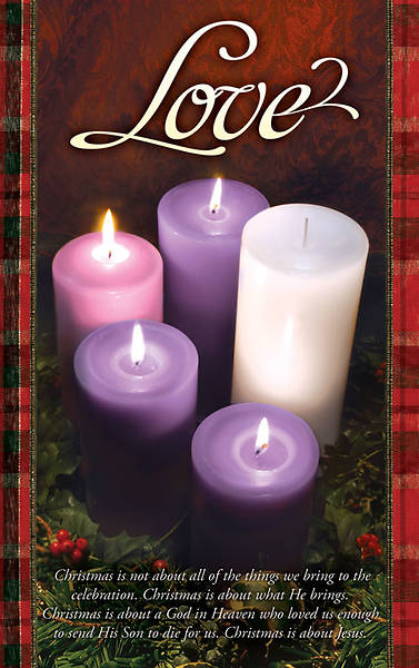 Advent Week 4/Love Bulletin, Regular (Package of 100)