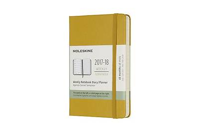 Moleskine 18 Month Weekly Planner, Pocket, Maple Yellow, Hard Cover (3.5 X 5.5)