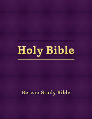 Picture of Berean Study Bible (Eggplant Hardcover)