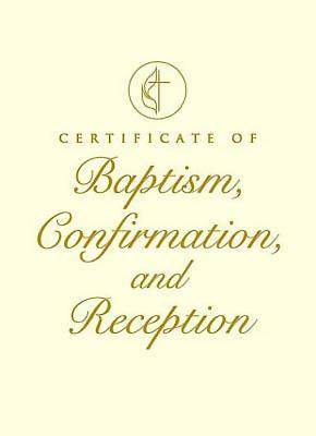United Methodist Covenant I Baptism, Confirmation and Reception Certificate (Package of 3)
