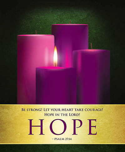 Hope Advent Candles Sunday 1 Bulletin, Large (Pkg of 50)