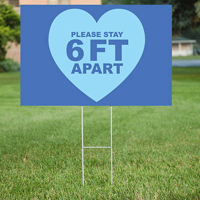 Picture of Stay 6 Feet Apart Yard Sign - 2 Pack