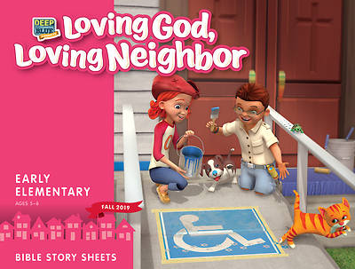 Picture of Deep Blue Connects Early Elementary Bible Story Sheets Fall 2019
