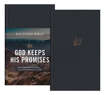 Picture of The God Keeps His Promises KJV Study Bible [slate Leaf]