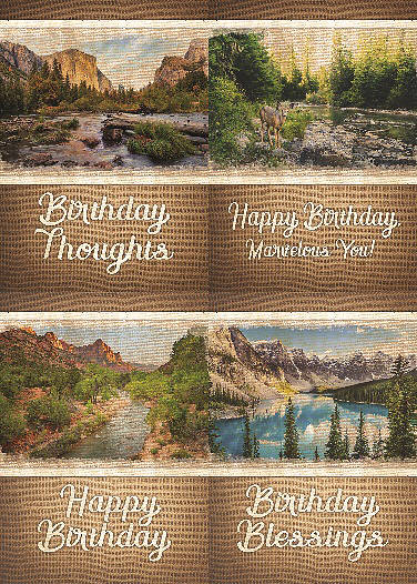 Majestic Wishes Birthday Boxed Cards