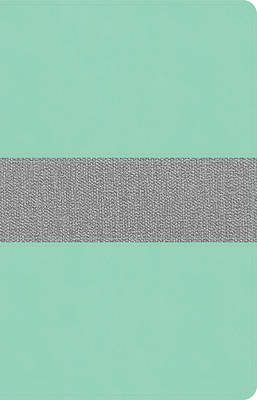 Picture of CSB Thinline Reference Bible, Mint/Gray Leathertouch
