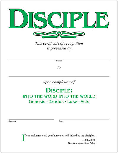 Picture of Disciple II Into the Word Into the World Certificate [PDF Download]