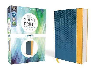 Picture of Niv, Giant Print Compact Bible for Boys, Leathersoft, Blue, Red Letter Edition, Comfort Print